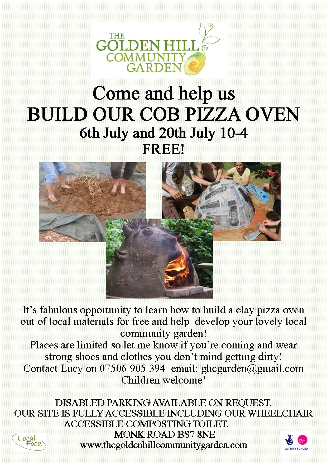 cob pizza oven poster