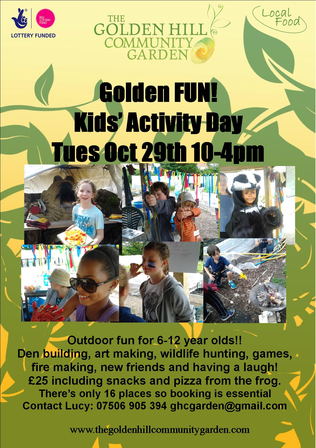 Oct 29th Activity day