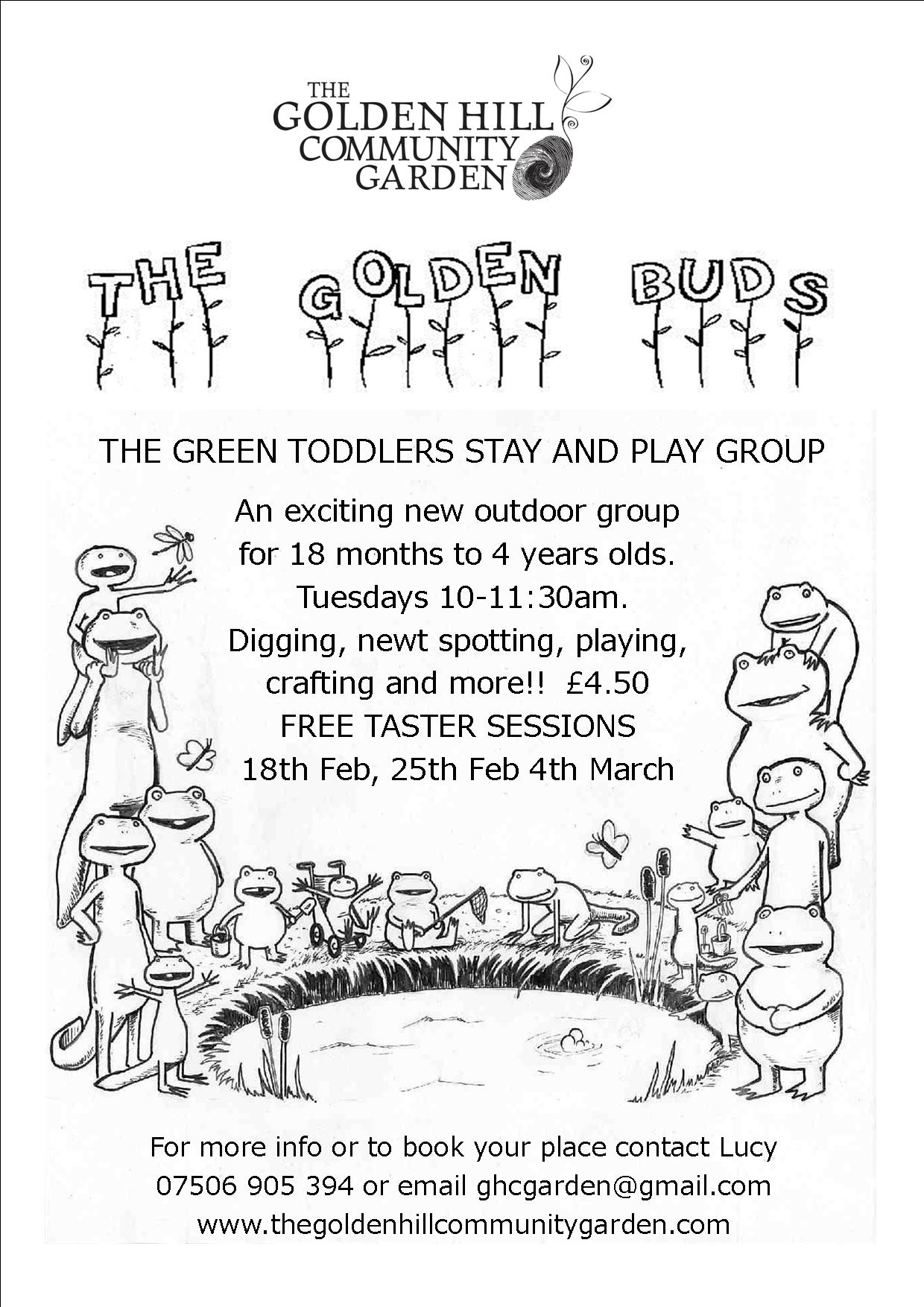 Golden Buds poster taster days